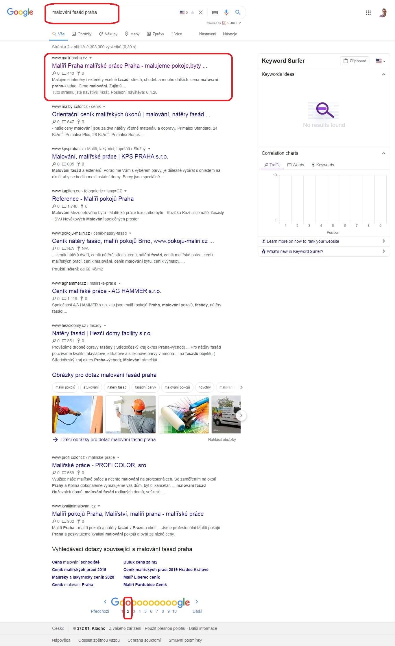 Ukázka SEO optimalizace pro vyhledávače 9